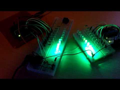 Arduino sound reactive Vu meter with Minijack - stereo