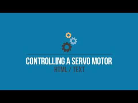 Servo Motor - Controlling Servo Motor from Webpage using Hypertext