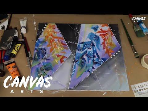 Floral Abstract Tape Wall Art Tutorial thumbnail