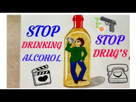 how to draw stop drug s coloring drawing poster step by step easy stop drinking alcohol poster