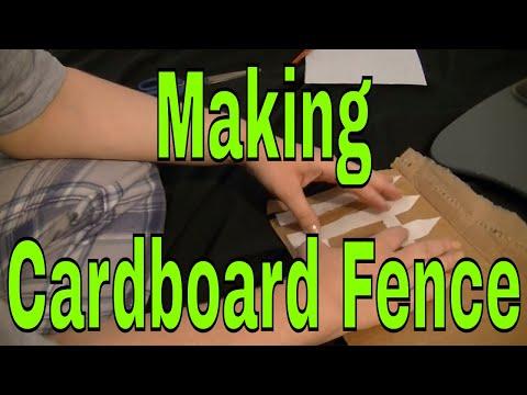 How To Make A Cardboard Fence