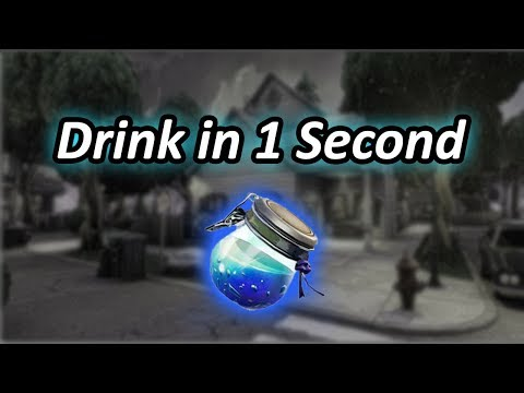 How to Drink a Shield Potion in 1 Second *Glitch* - Fortnite Battle Royale