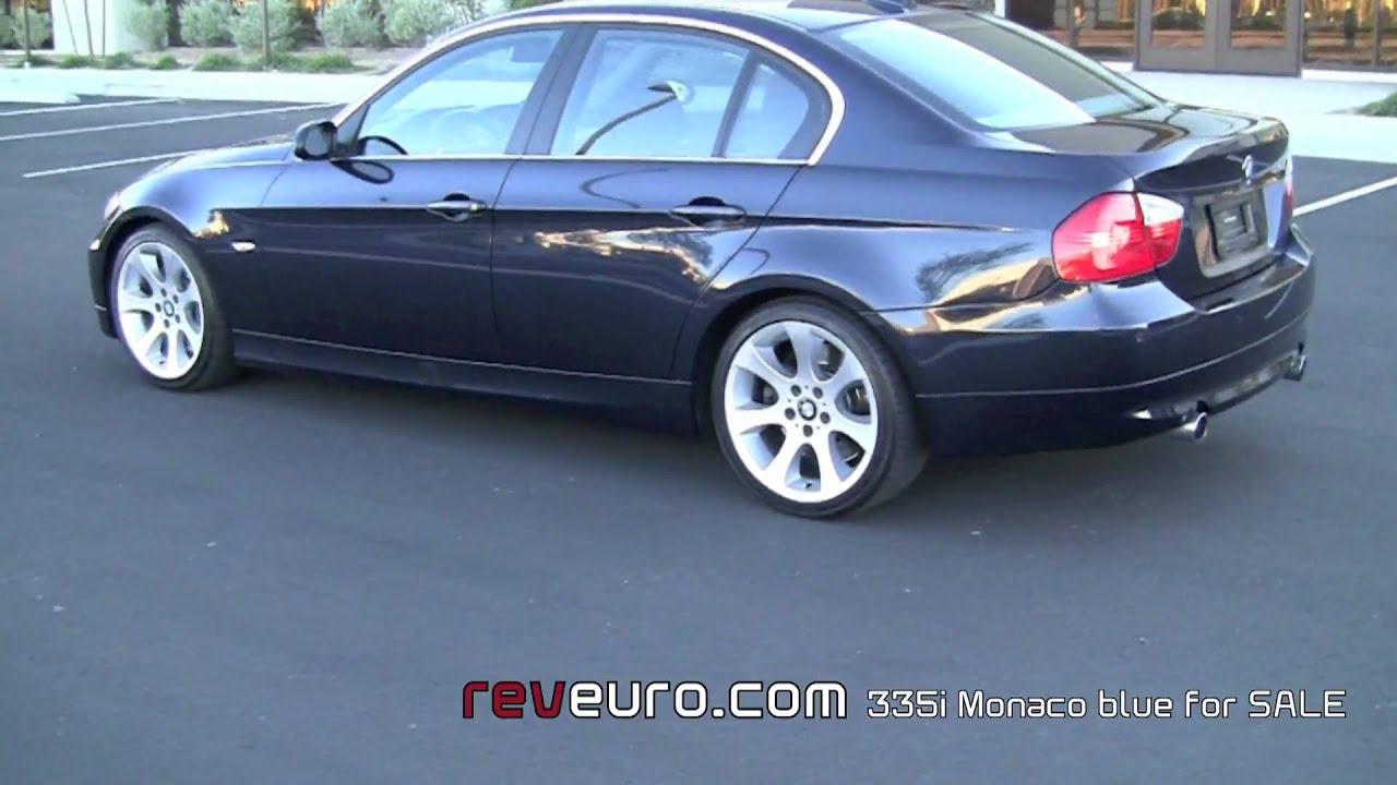 BMW 335i Sedan Monaco Blue walk around