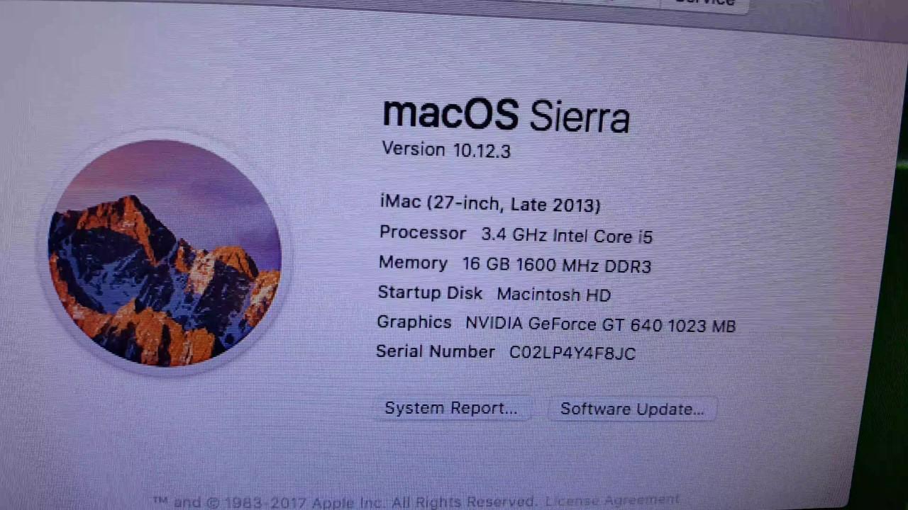 HP Pro 6300 Hackintosh Sierra