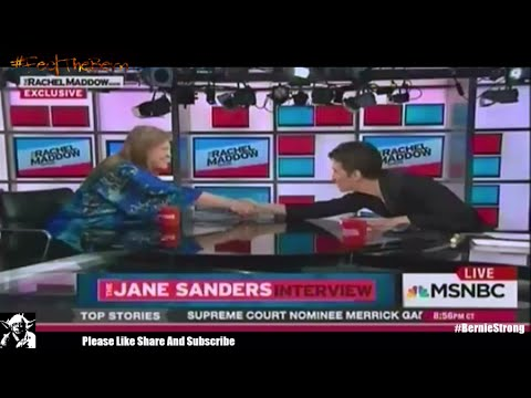 Jane Sanders speaking in support of Bernie Sanders Rachel Maddow Live