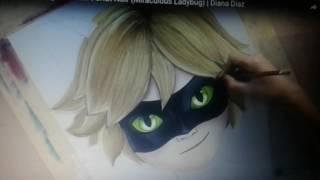 😙😙😙Талантливая художница рисует Супер Кота.😙😙😙