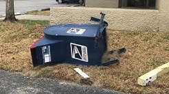 Van crashes into SunTrust Bank