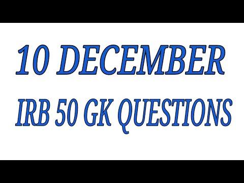 10 december IRB gk questions