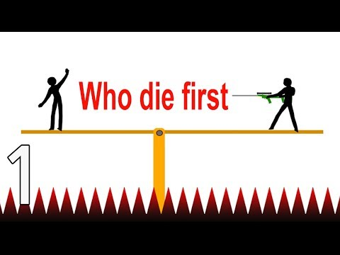 WHO DIES FIRST - Walkthrough Gameplay Part 1 - INTRO (Stupid Stickman Android Game)