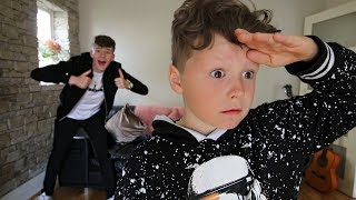 HIDE AND SEEK WITH LITTLE BROTHER! (In OUR House)