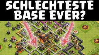 SCHLECHTESTE BASE EVER? || CLASH OF CLANS || Let's Play CoC [Deutsch/German Android iOS PC HD]