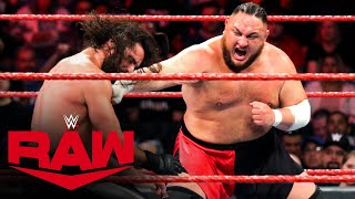 Kevin Owens, Samoa Joe & Viking Raiders vs. Seth Rollins, Murphy & AOP: Raw, Feb. 10, 2020
