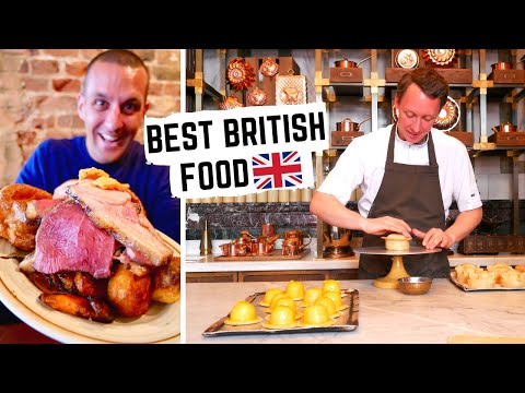 BRITISH FOOD TOUR In LONDON | Best BRITISH FOOD | Sunday Roast, Fish And Chips, Pies | English Food