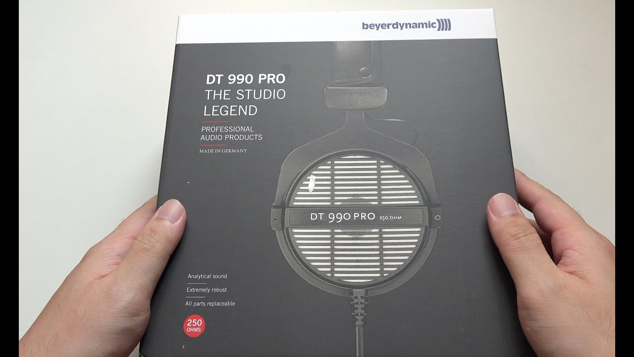 beyerdynamic dt 990 pro studio headphones unboxing youtube. Black Bedroom Furniture Sets. Home Design Ideas
