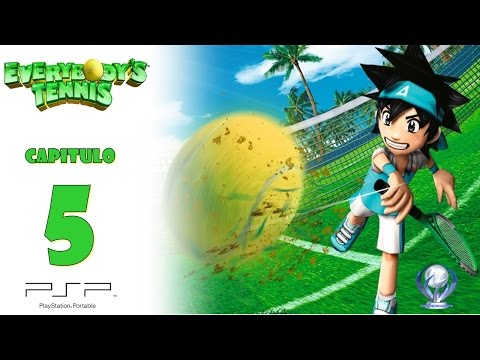 Everybody's Tennis (Gameplay Español, Psp) Capitulo 5 World Television Studio Parte 2