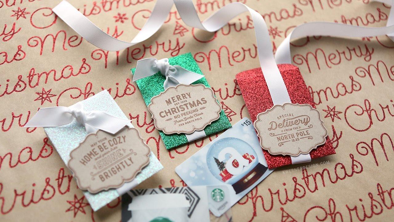 glitter gift card envelopes last minute christmas youtube