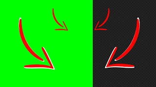 Red Arrows Animation #1   Green Screen, Video Alpha Channel   Free Download