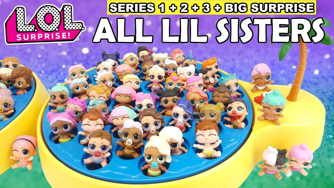 Lol Surprise All Lil Sisters Full Set L O L Complete Series 1 2