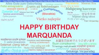 Marquanda   Languages Idiomas - Happy Birthday