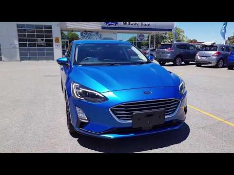 New 2019 Ford Focus Sa Titanium In Desert Island Blue Youtube