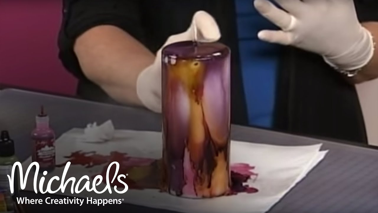 Alcohol Ink Candles | Michaels