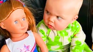 Babies vs New Toys - Funniest Home Videos by Babies amazing Reactions