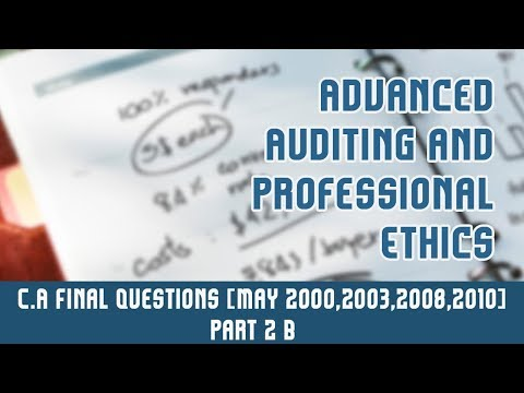 Liabilities Of Auditors | C.A Final Questions [May 2000, May 2003, May 2008 & May 2010] | Part 2 B