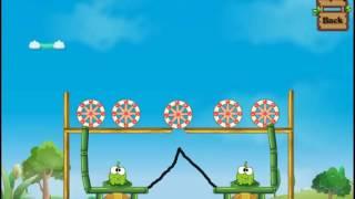 Детская Игра Мультфильм - Приключения Ам Няма - Om Nom - Перережь веревку: Ам Ням пьет воду  #2