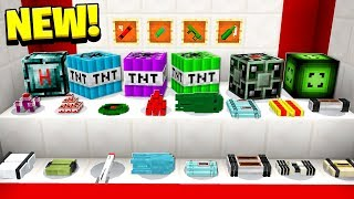 20+ INSANE NEW TNT BLOCKS! MINECRAFT TOO MUCH TNT!