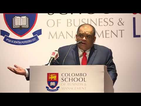 Mr Dhammika Perera Colombo Bussines school speech(ධම්මික පෙරේරා)