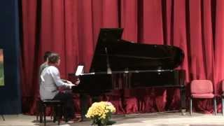 Grieg - Peer Gynt - Suite no.1 - Morning Mood - Op. 46 - piano 4 hands.