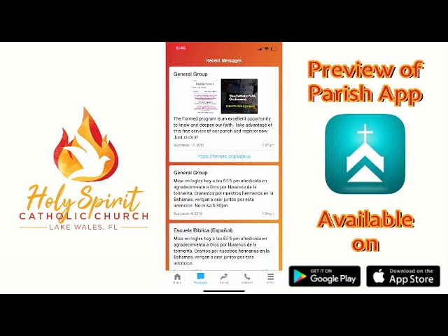 Parish App  Holy Spirit Catholic Church ‐ Made with Clipchamp