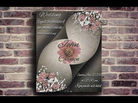 How To Make A Beautiful Wedding Invitations Photo Tutorial 2016