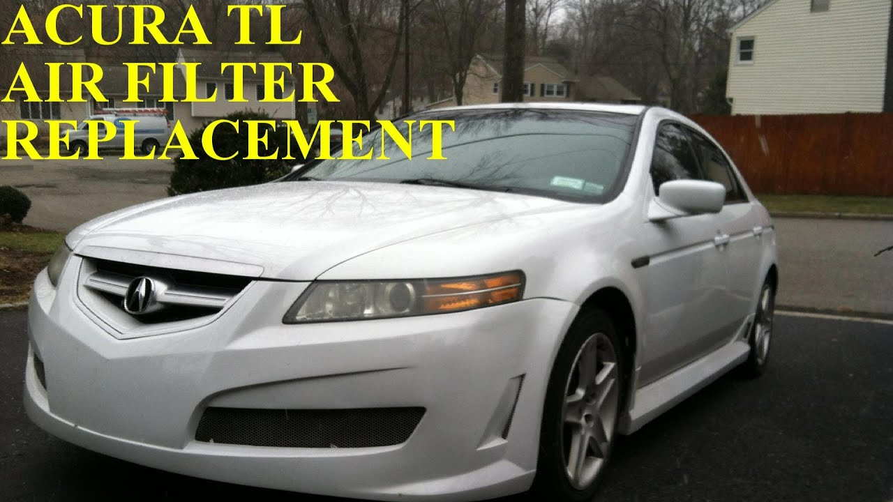 acura tl air filter element replacement youtube