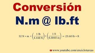 Convertir N*m a lb*ft