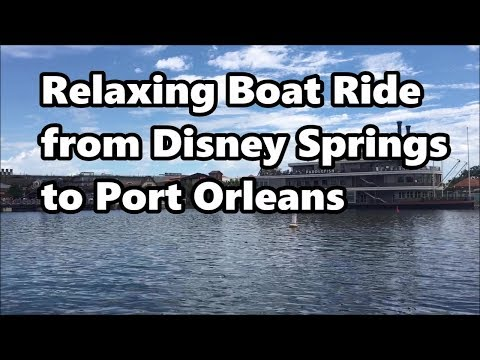 Relaxing Boat Ride from Disney Springs to Port Orleans Riverside | Walt Disney World