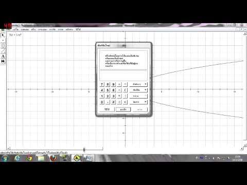 การทำกราฟ จากสมการเชิงเส้น 2ตัวแปร GSP