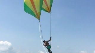 Jumping from a Parasail