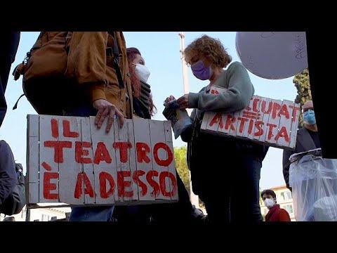 شاهد: مظاهرات في روما للتنديد بظروف العاملين في القطاع الثقافي …  - 19:00-2021 / 2 / 24