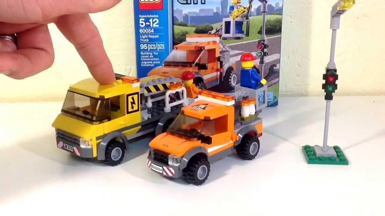 Lego City Light Repair Truck 60054 Review & Compare with the Repair Truck  set# 3179 - YouTube