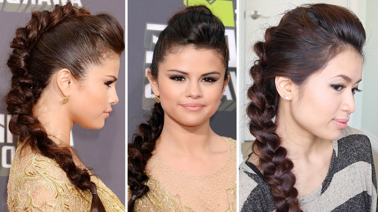 Protective Hairstyles Dutch Braids: Selena Gomez MTV Movie Awards 2013 Hairstyle