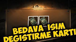 BEDAVA İSİM DEĞİŞTİRME KARTI - PUBG MOBİLE