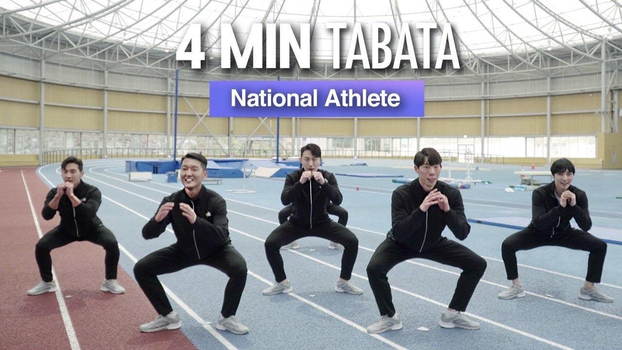 [EN] 2020 No.1 Lower Body Tabata | 2020년 NO.1 하체운동 (육상 국가대표 진민섭, 우상혁 선수)