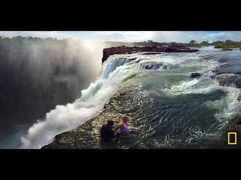 360度臨場體驗:飛越維多利亞瀑布與「魔鬼游泳池」《國家地理》雜誌