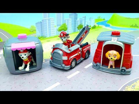 Мультики для детей с игрушкми Щенячий Патруль - Поменялись местами  Мультфильмы про машинки 2020.