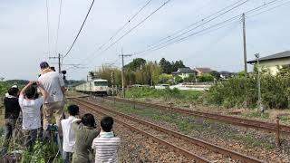 懐かしの新特急なすの号185系OM03編成蒲須坂低速通過