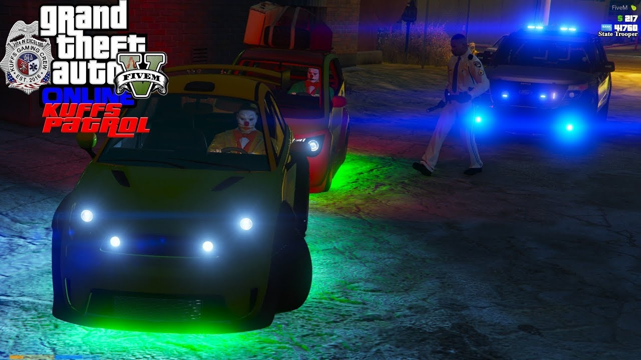 GTA 5 Mods - KUFFS FiveM Police Roleplay #336 Three Identical Clowns Cause Chaos In Paleto Bay