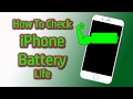 How to Check iPhone Battery Life! Easy Steps