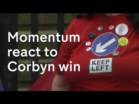 Momentum react to Corbyn's leadership victory
