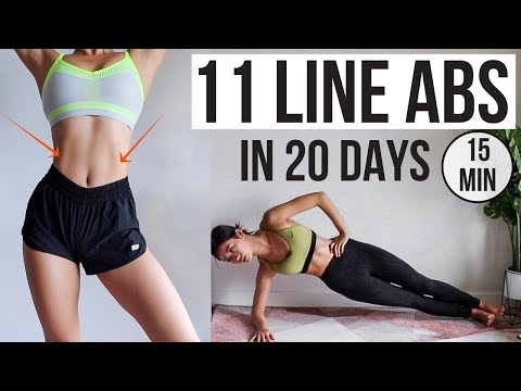 Abs In 20 Days! Get 11 Line Abs Like KPOP Idol (15 Min Home Workout) ~ Emi